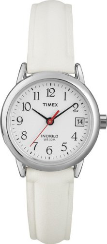 Timex T2H391PF Ladies Silver White Easy Reader Watch