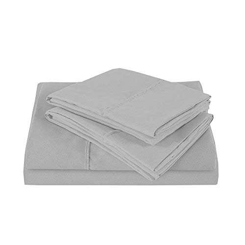 - RV Mattress Short Queen Sheet Set - (60x75) 400 Thread Count Egyptian Cotton -Made Specifically for RV, Camper & Motorhomes (Short Queen) (Light Grey Solid)