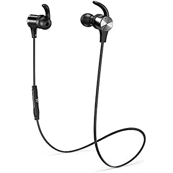 Bluetooth Headphones TaoTronics Wireless 5.0 Magnetic Earbuds Snug Fit for Sports with Built in Mic TT-BH07 (IPX6 Waterproof, aptX Stereo, 9 Hours Playtime)