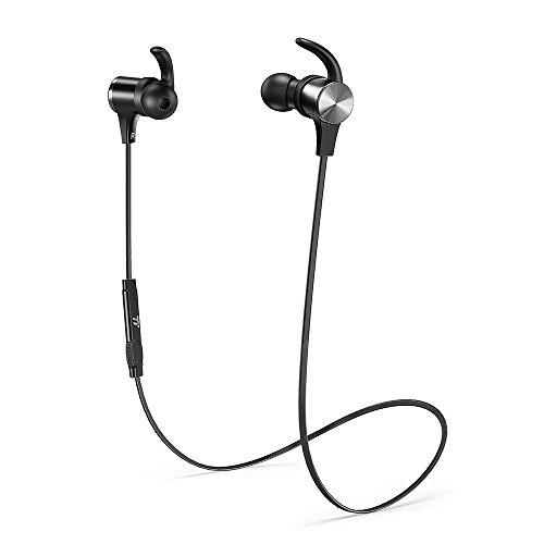 TaoTronics Bluetooth Headphones [2019 Upgrade] Wireless 5.0 Magnetic Earbuds Snug Fit for Sports with CVC 8.0 Built in Mic TT-BH07 (IPX6 Waterproof, aptX Stereo, 9 Hours Playtime)