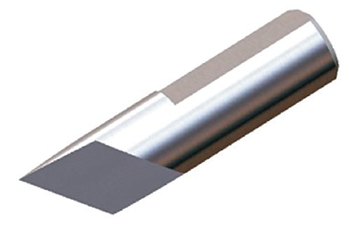 Micro 100 TANG-60 Tangential Blade, 60°, 0.433'' Cutter Length, 0.867'' ''L3'' Dimension, 0.600'' ''L4'' Dimension, 0.220'' ''D1'' Dimension, 1/4'' Shank Diameter, 1.3'' Overall Length, Solid Carbide Tool