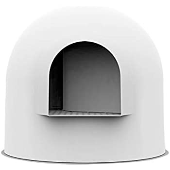 Pidan Cat Litter Box with Lid Large with Scooper Cat Litter Pan Snow House Igloo Solide and Durable Easy to Clean with Non-Stick Coating - Stylish, ...