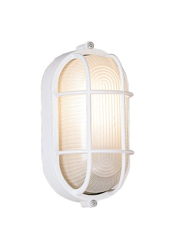 Designers Fountain Outdoor 2071-WH Oval Bulkhead with Guard by Designers Fountain