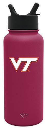 - Simple Modern University Collegiate 32oz Summit Water Bottle with Straw Lid Virginia Tech Hokies