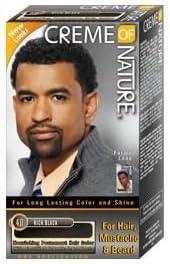 Crema de la naturaleza hombres pelo tinte para cabello, barba y el bigote Rich Negro