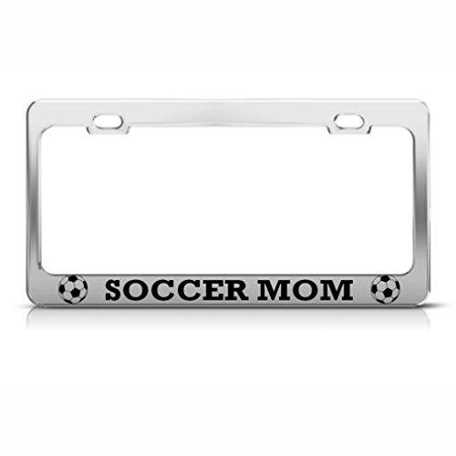 Soccer Mom Metal License Plate Frame Tag Holder