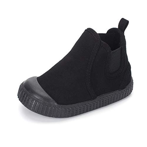 Toddler Warm Ankle Martin Boots Boys Girls Suede Boots Outdoor Casual Shoes Black 7.5 Toddler