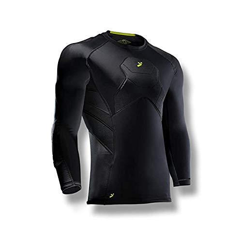 Goalkeeper Elbow - Storelli BodyShield Goalkeeper 3/4 Undershirt |Athletic Shirts Padded Against Impact |UV Resistant and Turf Burn Injuries |Sweat-Wicking | Medium |Black