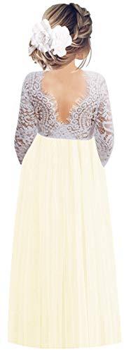 Flower Girl Dress Clearance - 2Bunnies Girl Peony Lace Back A-Line
