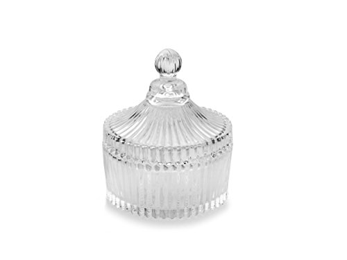 Celebrations by Mikasa Crystal Round Covered Gift Box, 4-Inch - Covered Gift Box