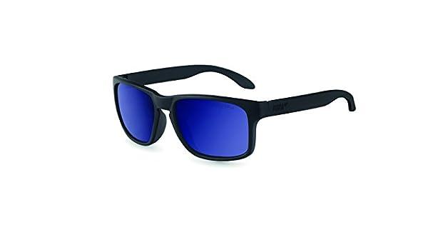 Pegaso Rocky Gafas de sol, Negro/Espejo Azul Revo, 55 Unisex ...