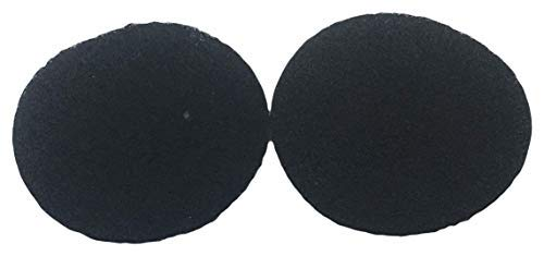Compost Bin Filters - 2 Pack by The Relaxed Gardener - Set of 2 Black 4 Inch Round Odor Abscorbing Replacements for Kitchen Composting Buckets ()