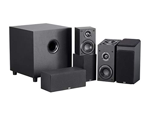 Monoprice 133831 Premium 5.1.2-Ch. Immersive Home Theater System – Black with 8 Inch 200 Watt Subwoofer