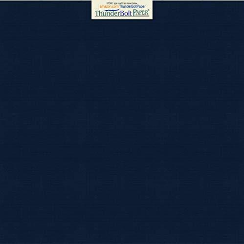 25 Dark Navy Blue Linen 80# Cover Paper Sheets - 12