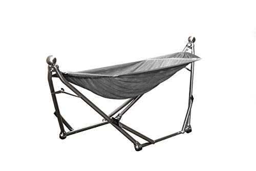 Wynn Wyse Designs Portable Stainless Steel Hammock Stand Combination Gray