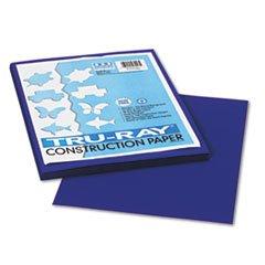 * Tru-Ray Construction Paper, 76 lbs., 9 x 12, Royal Blue, 50 Sheets/Pack *