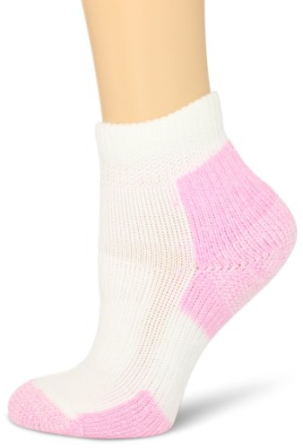 Thorlos Women's  DWMXW Walking Thick Padded Ankle Sock, Pink, (Thick Cushion Tennis Socks)