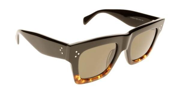 3ca72d2666 Celine 41054 S Sunglasses-0FU5 Black Havana Tortoise (1E Green Lens)-50mm  Celine  Amazon.ca  Shoes   Handbags