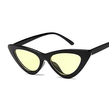 Amazon.com: Kasuki Small Cat Eye Ladies Sunglasses Red Black ...