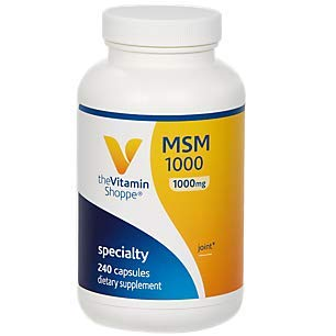 The Vitamin Shoppe MSM 1,000 (1,000MG) (Methylsulfonylmethane), Supports Joint Health Function (240 Capsules)