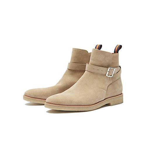 - New Republic Men's Carl Suede Belted Boot with Crepe Outsole - Sand (8)