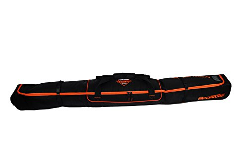 Sportube Traveler Single Ski Bag, Black/Orange