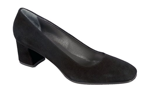 Carolina D. ITALIAN XL SHOES , Escarpins pour femme noir Daim noir