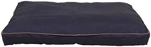 Carolina Pet Jamison Indoor/Outdoor Faux Gusset Bed for Pets, Blue/Tan, Medium by (Gusset Jamison Pet Bed)