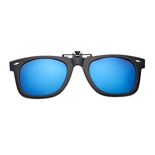 on Vintage Lentilles Clip Frame de Lunettes TR90 Lunettes Blue UV soleil Polarisé up Anti Meijunter Flip gqYdq