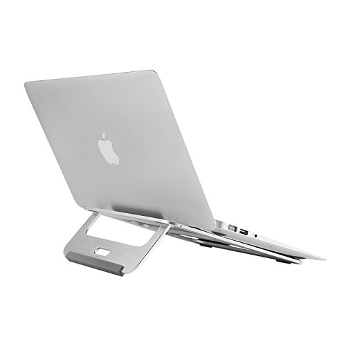 Foldable Laptop Tablet Stand Holder - BUBM Ergonomic Adjustable Desktop Cooling Stand Holder Notebook Riser for Macbook Air,Macbook Pro, iPad, Kindle,2 Year Warranty,Silver by BUBM
