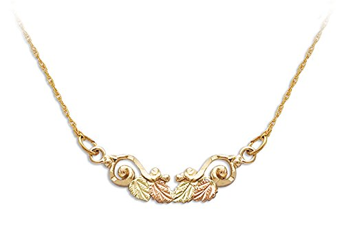 Landstroms 10K Black Hills Gold Necklace with 12K Leaves from Landstroms ()