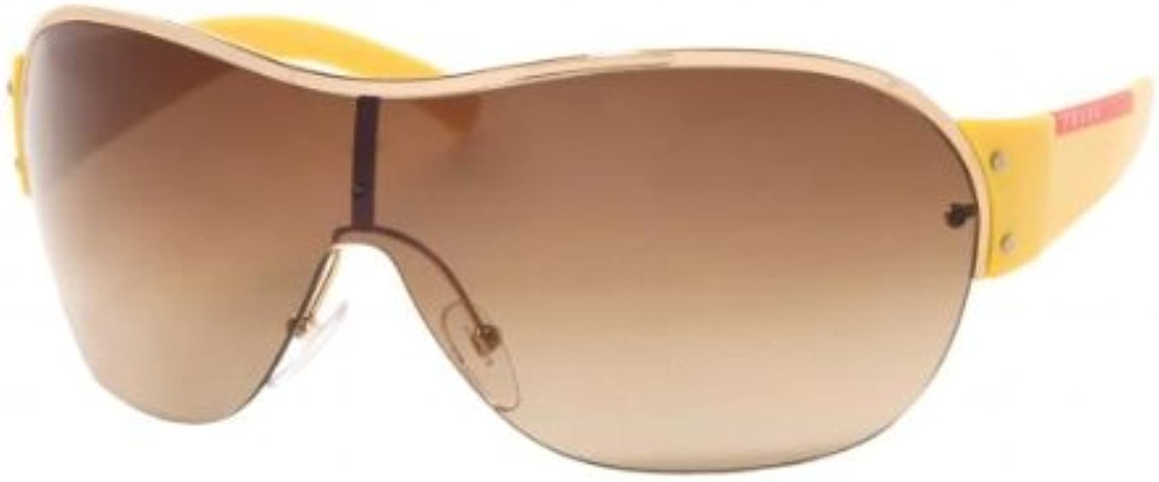 9a2009f6b0ef Prada Sunglasses SPS53G YELLOW   BROWN GRADIENT 5AK6S1 at Amazon ...