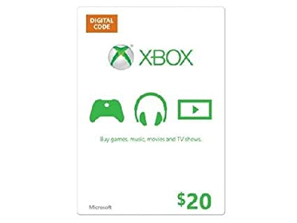 $20 Microsoft Xbox Gift Card (printed digital code sent by