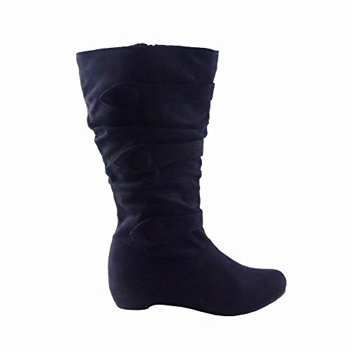 Blancho Shaft Temps Froid Boot Noir