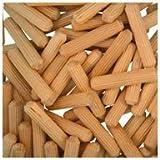 WIDGETCO 1/4'' x 1-1/4'' Wood Dowel Pins, Multi-Groove