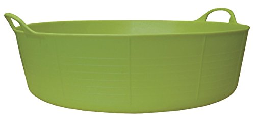 - TubTrug SP15PST Shallow Pistacio Flex Tub, 15 Liter