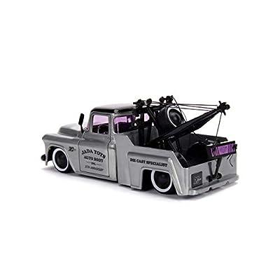 1:24 Jada 20 - K. Kings - '55 Chevy Stepside, Bare Metal, Model:JD31087: Toys & Games