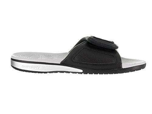 Buena venta para la venta Visita Nuevo en venta Jordan Hidro 5 Sandalia De Plata Negro / Metálico Nike Hombres / Blanco Naranja 100% Original Nb9oW