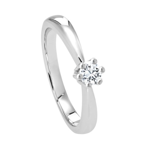 Diamond Line - 111410 - Bague Femme - Or Blanc 14 Cts 585/1000 3.79 Gr - Diamant