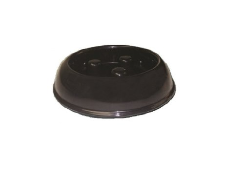 QT Dog Brake-Fast Dog Bowl, Small, Black, My Pet Supplies