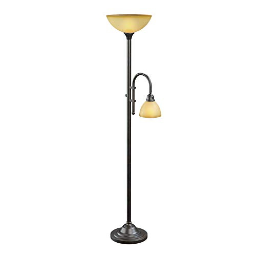Kenroy Home 20995BH Callahan Torchiere, 71.5 Inch Height, Br