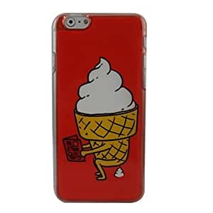 JJE Beautiful Ice Cream Plastic Hard Back Cover for iPhone 6 Plus