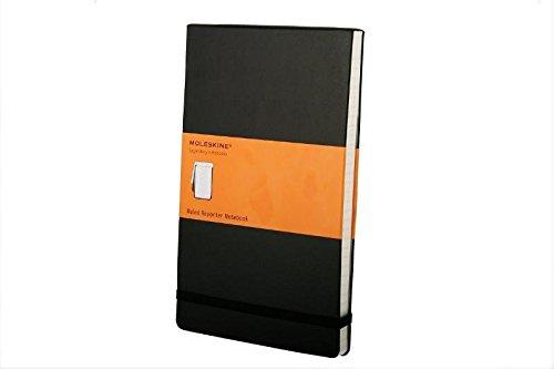Moleskine Reporter Notebook, Large, Ruled, Black, Hard Cover (5 x 8.25) (Reporter (Moleskine Ruled Reporter Notebook)