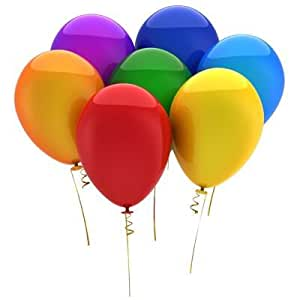 "PartyWoo 12"" Pack of 100 Latex Balloons (Mixture Color) Toy"