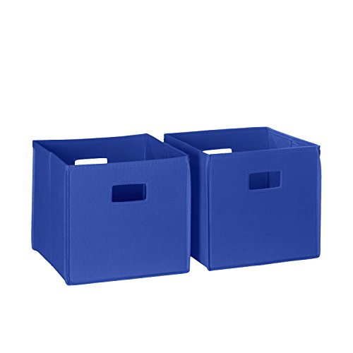 (RiverRidge 02-011 2-Piece Folding Storage Bin, Blue)