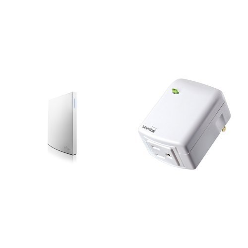 Wink Hub 2 and Leviton DZPA1-2BW Decora Smart Plug-in Outlet with Z-Wave Technology, White by Wink