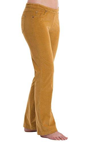 PajamaJeans Women's Bootcut Stretch Corduroy Pants, Honey, LRG - Jean Stretch Corduroy