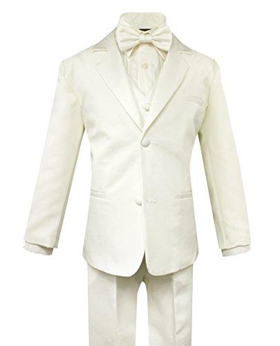 Luca Gabriel Toddler Boys' 5 Piece Classic Fit Formal Ivory Suit Bowtie Set - Size 4t -