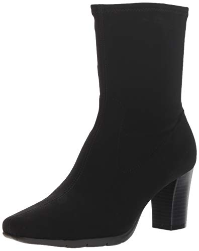 rsimmon Mid Calf Boot, Black Fabric, 6 M US ()