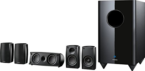 "Onkyo 5.1-Channel Home Theater Speaker System with 10"" Powered Subwoofer Black SKSHT690"